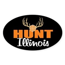 Hunt Illinois Oval Decal