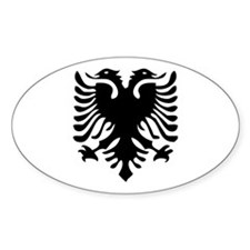 Albanian Eagle Oval Decal