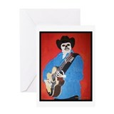 El Bajo Sexto Guitar Greeting Card