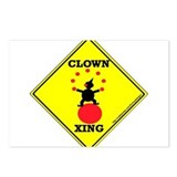 Clown Xing Postcards (Package of 8)