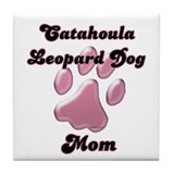 Catahoula Mom3 Tile Coaster
