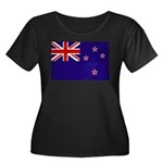 New Zealand Women's Plus Size Scoop Neck Dark T-Sh