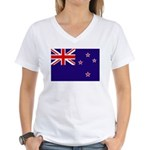 New Zealand Women's V-Neck T-Shirt