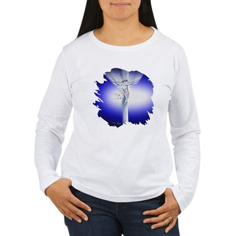 Jesus on Cross Women's Long Sleeve T-Shirt