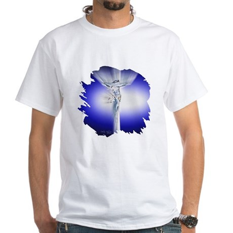 Jesus on Cross White T-Shirt