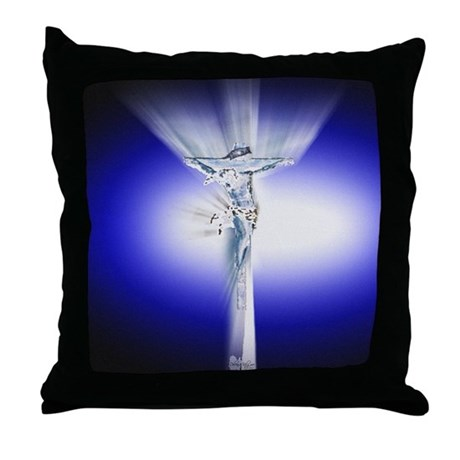Jesus on Cross Throw Pillow