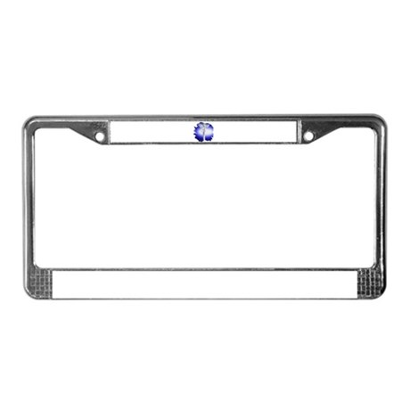 Jesus on Cross License Plate Frame