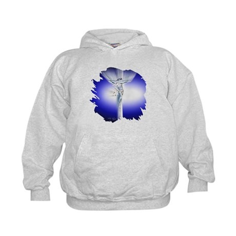 Jesus on Cross Kids Hoodie