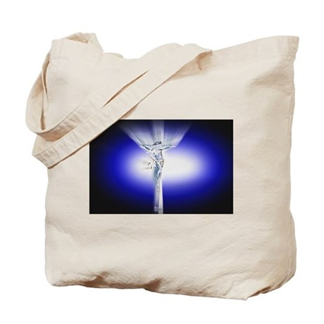 Jesus on Cross Tote Bag