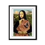 Mona / Chow Framed Panel Print