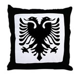 Albanian Eagle Throw Pillow