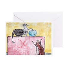Frank and Francine Greeting Card
