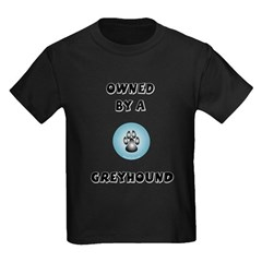 Owned by a Greyhound Kids Dark T-Shirt