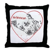 "Dalmatian ""Pick a Spot"" Throw Pillow"