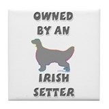Irish Setter Pewter Tile Coaster