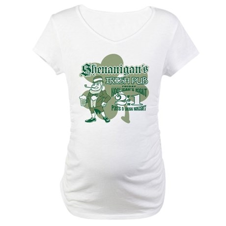 Shenanigan's Irish Pub (light Maternity T-Shirt