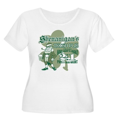 Shenanigan's Irish Pub (light Women's Plus Size Sc