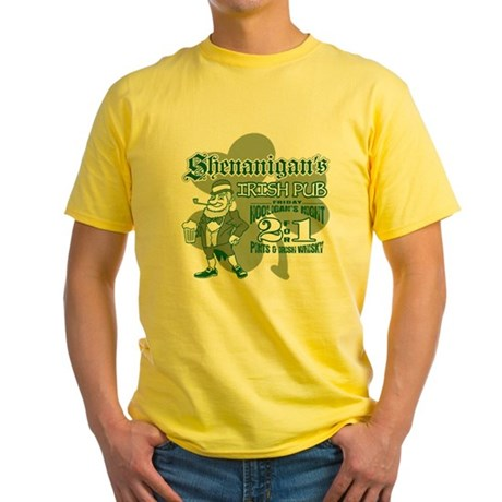 Shenanigan's Irish Pub (light Yellow T-Shirt