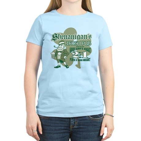 Shenanigan's Irish Pub (light Women's Light T-Shir