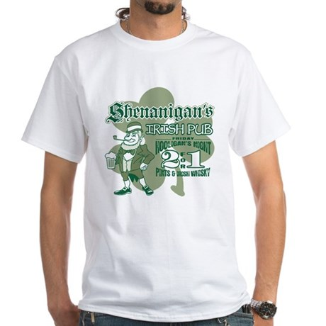 Shenanigan's Irish Pub (light White T-Shirt