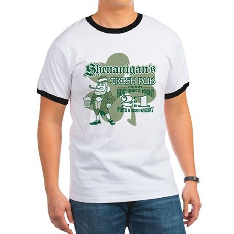 Shenanigan's Irish Pub (light Ringer T