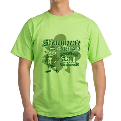Shenanigan's Irish Pub (light Green T-Shirt