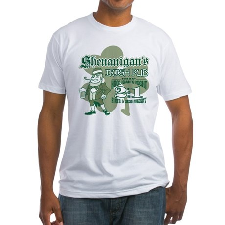 Shenanigan's Irish Pub (light Fitted T-Shirt