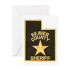 Beaver County Sheriff Greeting Card