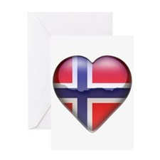 Norway Heart Greeting Card