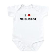 I Love staten island Infant Bodysuit