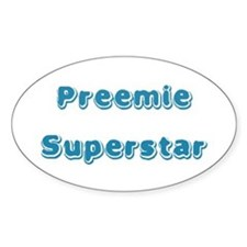 Preemie Superstar Oval Decal