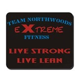 Team Northwoods X-Treme Logo Black Mouse Pad