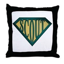 SuperScout(Tan) Throw Pillow