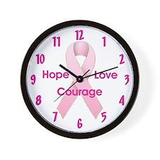 Hope Love Courage Wall Clock