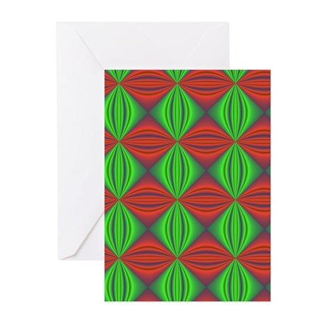 Happy Holidays Fractal Greeting Cards (Pk of 10)
