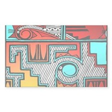 Pueblo Home Rectangle Decal