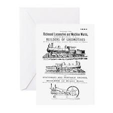 Richmond Locomotive Works Greeting Cards (10)