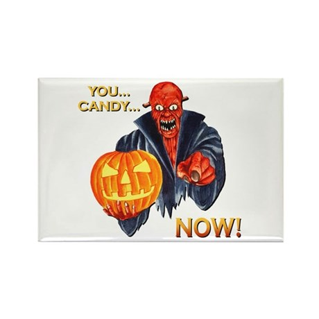 Scary Halloween Demon Rectangle Magnet (100 pack)