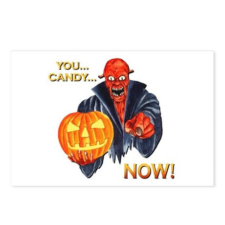 Scary Halloween Demon Postcards (Package of 8)