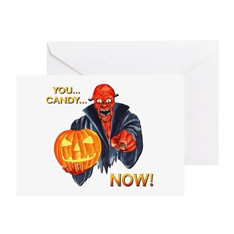 Scary Halloween Demon Greeting Card