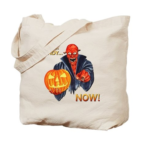 Scary Halloween Demon Tote Bag