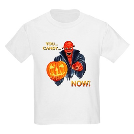 Scary Halloween Demon Kids Light T-Shirt