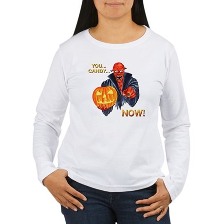Scary Halloween Demon Women's Long Sleeve T-Shirt