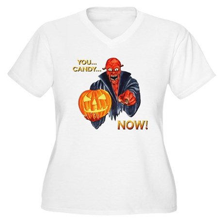 Scary Halloween Demon Women's Plus Size V-Neck T-S