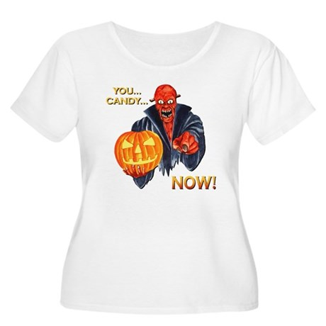 Scary Halloween Demon Women's Plus Size Scoop Neck