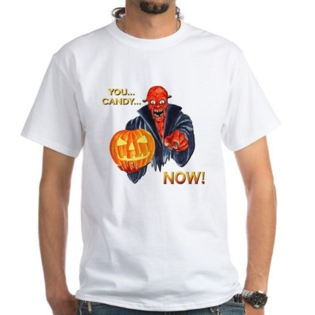 Scary Halloween Demon White T-Shirt
