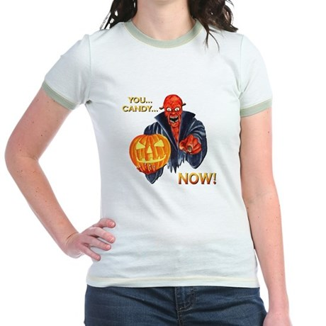 Scary Halloween Demon Jr. Ringer T-Shirt
