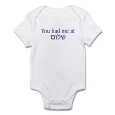 You had me at Shalom Infant Bodysuit