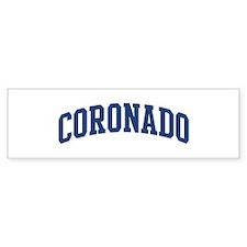 CORONADO design (blue) Bumper Bumper Sticker