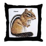 Ground Squirrel Chipmunk Throw Pillow